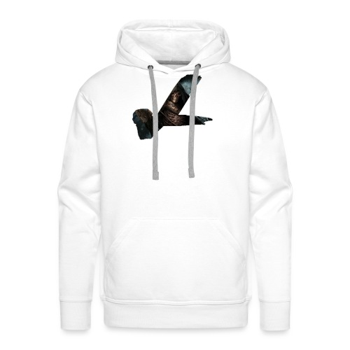 ghosty white outline - Men's Premium Hoodie