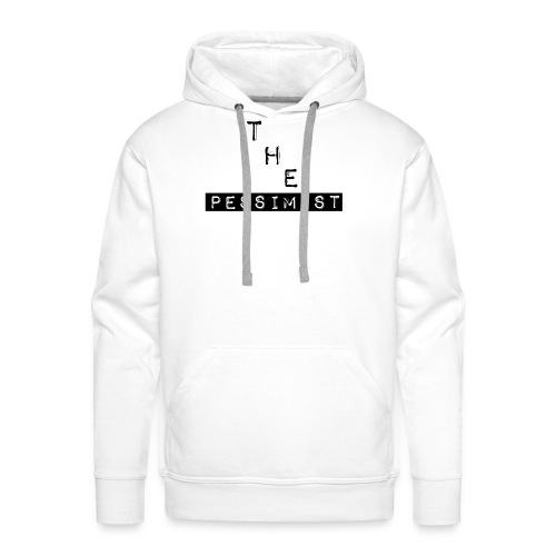 The Pessimist Abstract Design - Men's Premium Hoodie