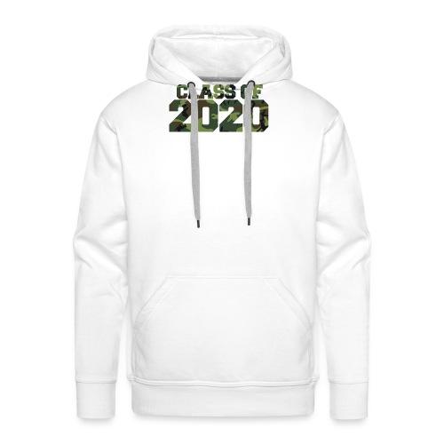 Class of 2020 Camo grad logo - Men's Premium Hoodie
