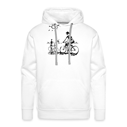 Bicycle Bicycling Picasso - Men's Premium Hoodie