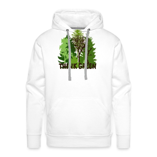 EARTHDAYCONTEST Earth Day Think Green forest trees - Men's Premium Hoodie