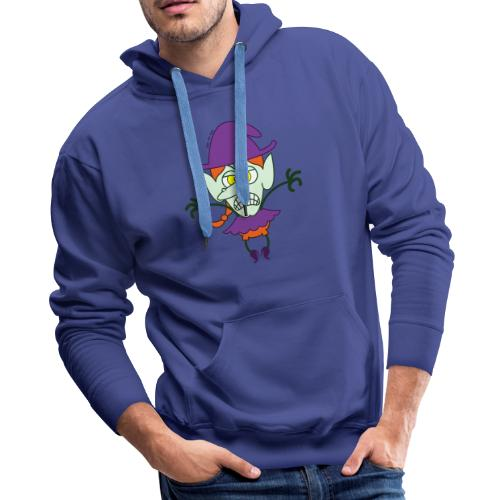 Scary Halloween Witch - Men's Premium Hoodie