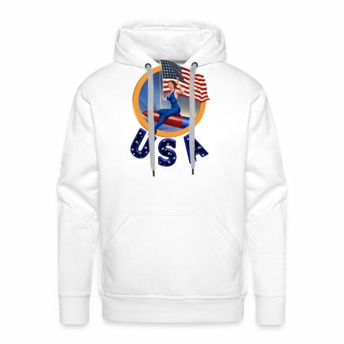 Flag USA - Men's Premium Hoodie