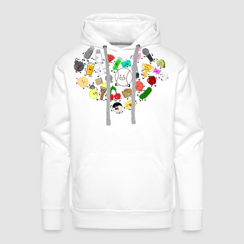 Inanimate Heart Color - Men's Premium Hoodie