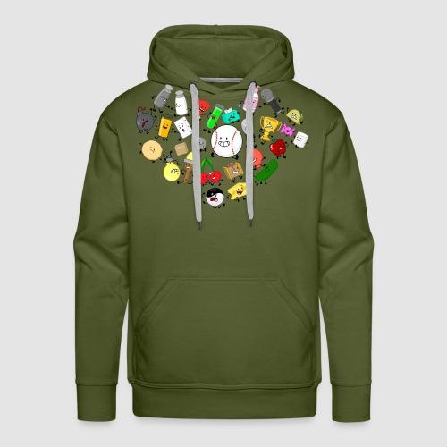 Inanimate Heart Color - Men's Premium Hoodie