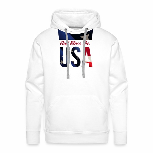 God Bless The USA Veterans T-Shirts - Men's Premium Hoodie