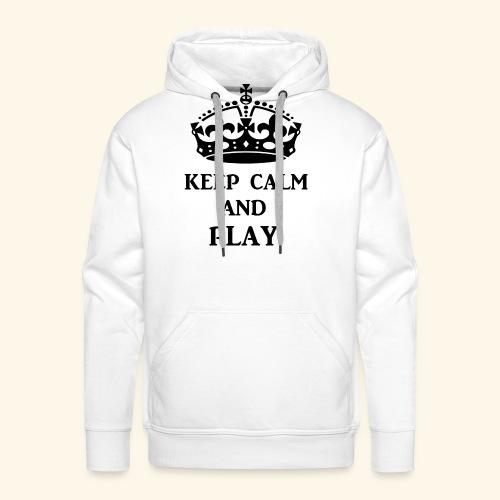 keep calm play blk - Men's Premium Hoodie