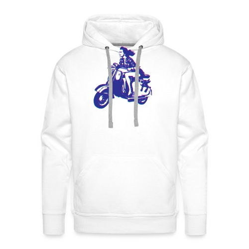 Cute Vespa Scooter Girl - Men's Premium Hoodie