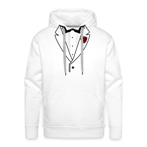 Tuxedo w/Black Lined Lapel - Men's Premium Hoodie