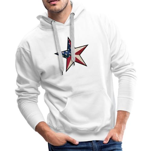 American Patriot Barn Star - Men's Premium Hoodie