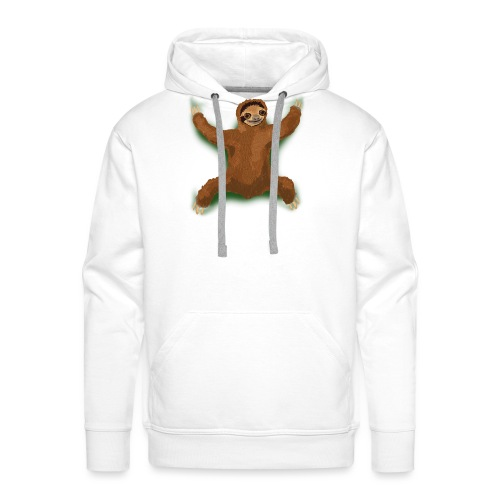Sloth Love Hug - Green - Men's Premium Hoodie