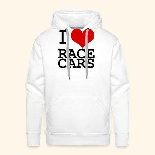 I Love Race Cars - Men's Premium Hoodie