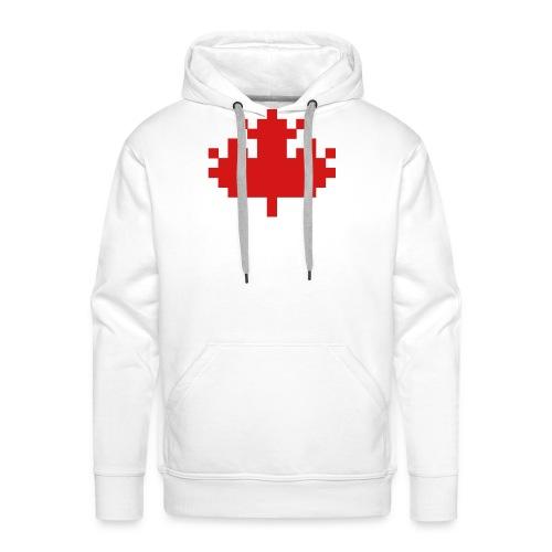 Pixel Maple Leaf - Men's Premium Hoodie