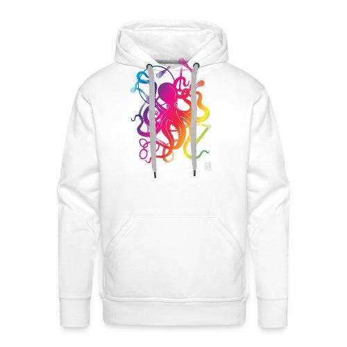 Rainbow Circus Octopus - Men's Premium Hoodie