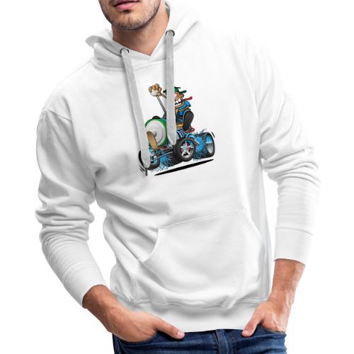 Hot Rod Electric Car Cartoon - Men's Premium Hoodie
