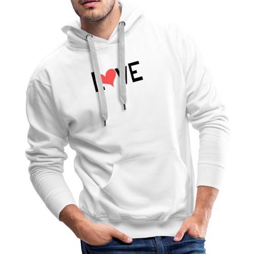 LOVE heart - Men's Premium Hoodie