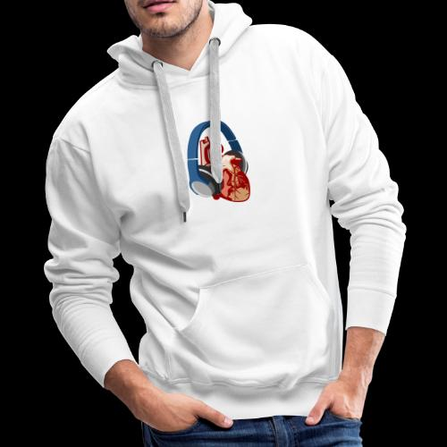 Heartbeats for Music Headphones - Men's Premium Hoodie