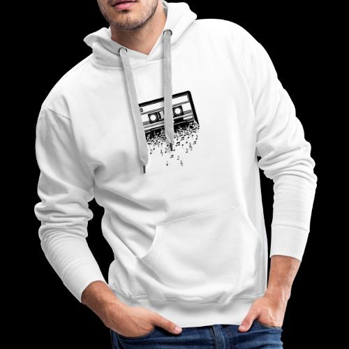 Music Notes Cassette Tape - Men's Premium Hoodie
