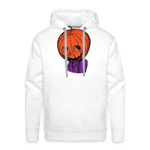 Pumpkin Head Halloween - Men's Premium Hoodie