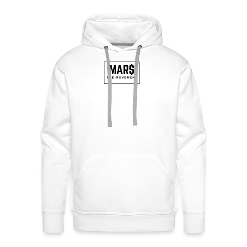 MAR$ Orginal White T-Shirt - Men's Premium Hoodie