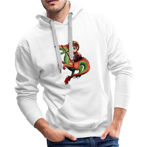 Poet Raptor Riding - Men's Premium Hoodie