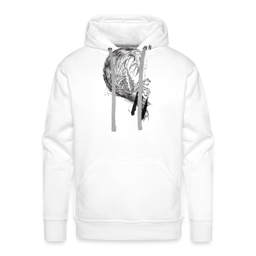 Crow Illustration - Men's Premium Hoodie
