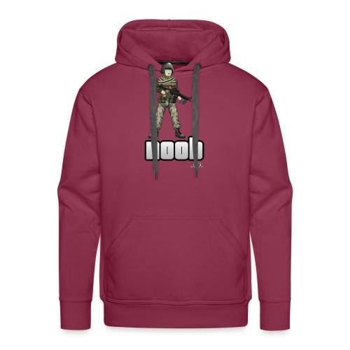 n00b design v1 with logo png - Men's Premium Hoodie