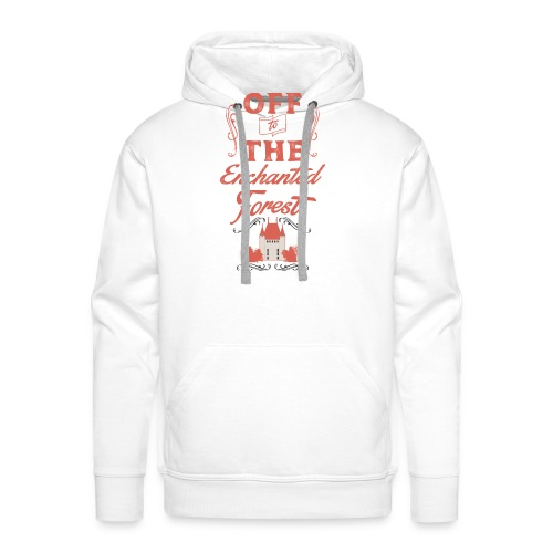 ENCHANTED FOREST RED RESI - Men's Premium Hoodie