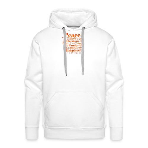 PEACE LOVE HARMONY - Men's Premium Hoodie