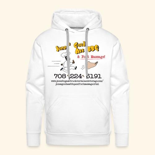 Jones Good Ass BBQ and Foot Massage logo - Men's Premium Hoodie