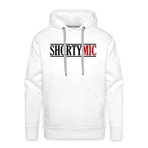 Shorty Mic - Logo - Black & Red - Men's Premium Hoodie
