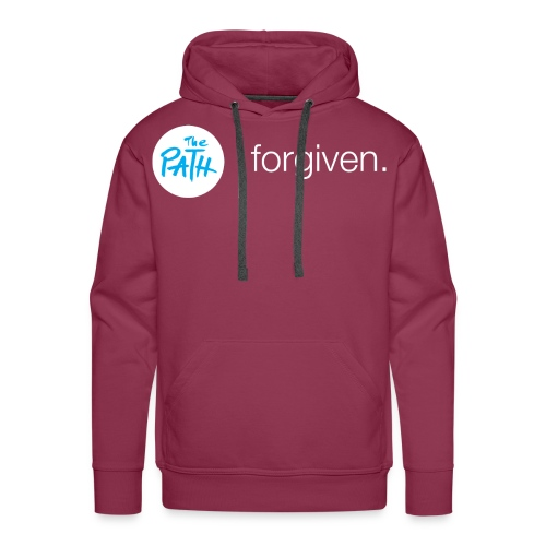 The Path Forgiven Logo In White - Men's Premium Hoodie