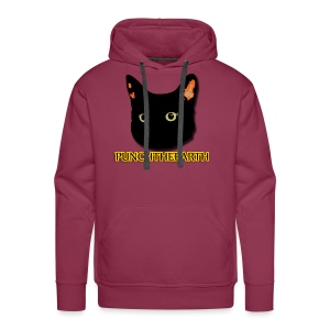 PunchTheEarth Cat with Text - Men's Premium Hoodie
