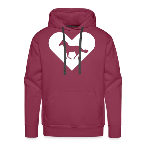 Heart-Horse (white) - Men's Premium Hoodie