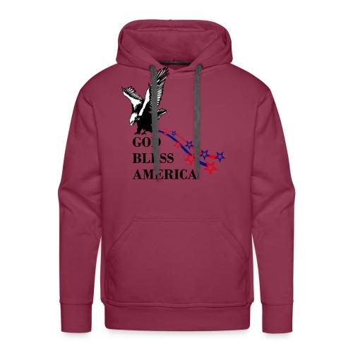 CUSTOM DESIGN GOD BLESS AMERICA - Men's Premium Hoodie