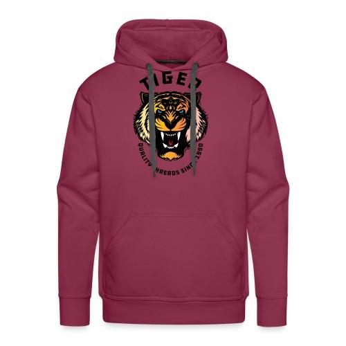 Wild tiger Face Animals Sticker - Men's Premium Hoodie