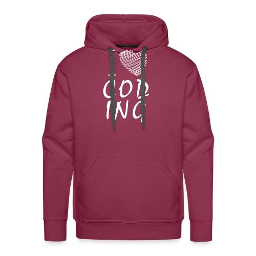 Developer T shirt : I Love Coding TShirts - Men's Premium Hoodie