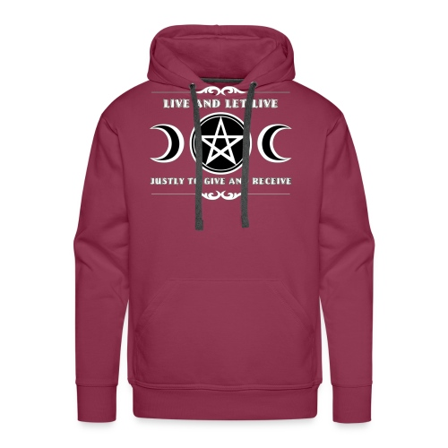 Live and let live Wicca law - Men's Premium Hoodie