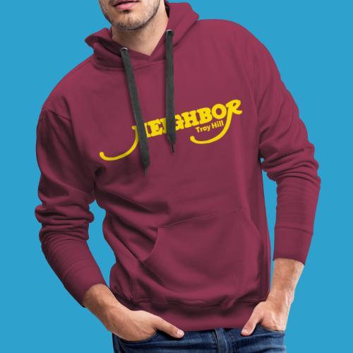 Troy Hill Yellow Font - Men's Premium Hoodie