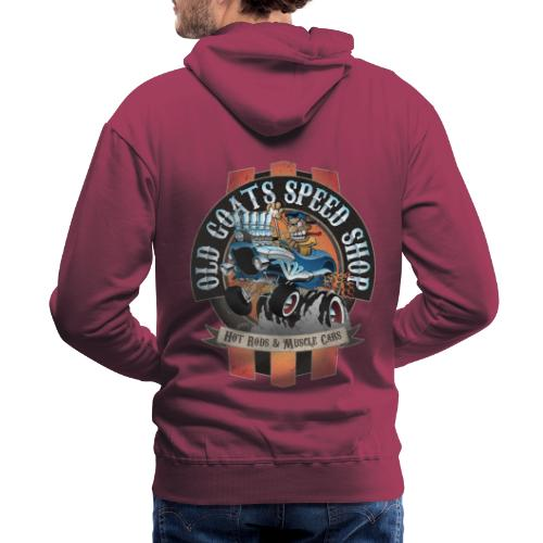 Old Goats Speed Shop Vintage Car Sign Cartoon - Men's Premium Hoodie