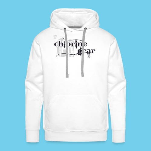Chlorine Gear Textual stacked Periodic backdrop - Men's Premium Hoodie