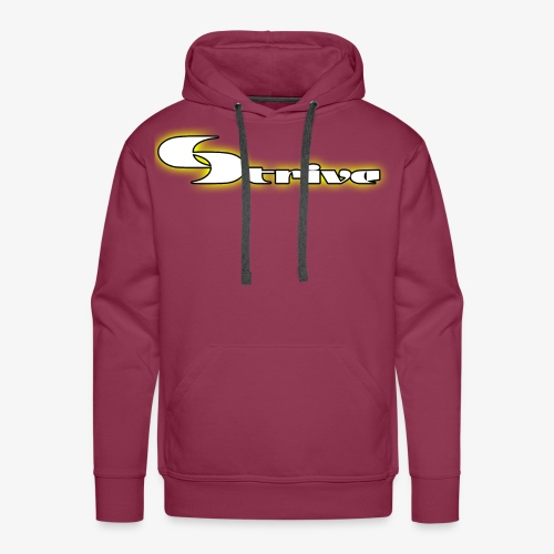 Strive Written Logo - Men's Premium Hoodie