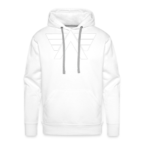 Bordeaux Sweater White AeRo Logo - Men's Premium Hoodie