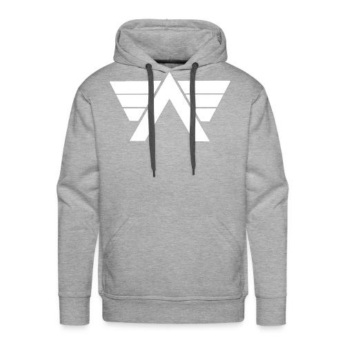 Bordeaux Sweater White AeRo Logo - Men's Premium Hoodie