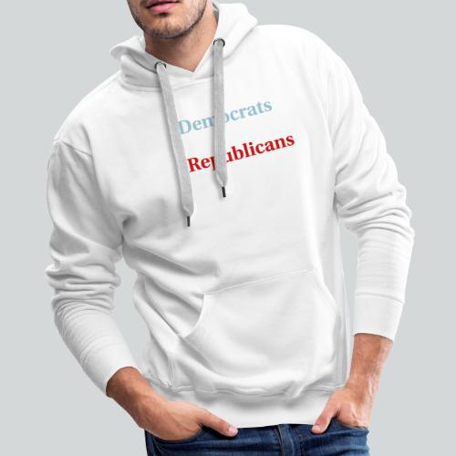 Election Ballot - Americans - Men's Premium Hoodie
