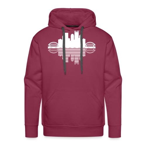 Pittsburgh Skyline Reflection - Men's Premium Hoodie
