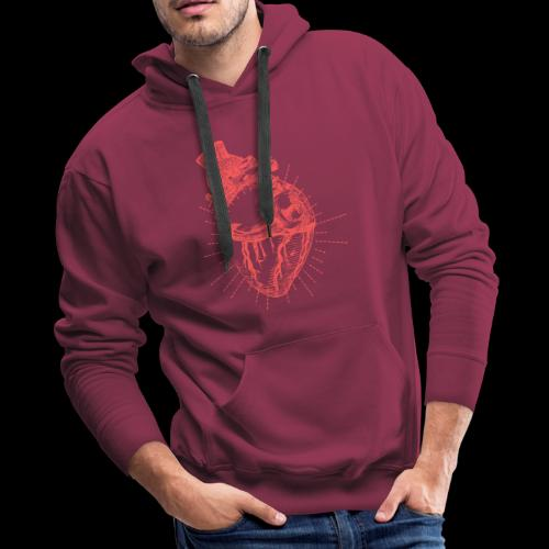 Hand Sketched Heart - Men's Premium Hoodie