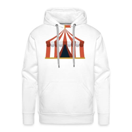 Striped Circus Tent - Men's Premium Hoodie