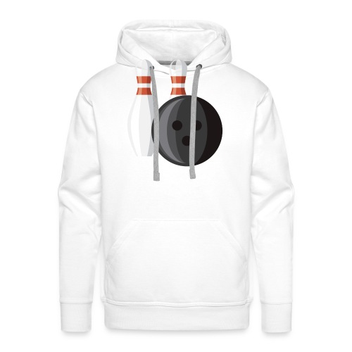 Bowling Ball and Pins - Men's Premium Hoodie