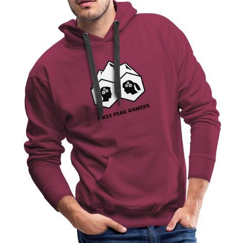 Pikes Peak Gamers Logo (Solid White) - Men's Premium Hoodie